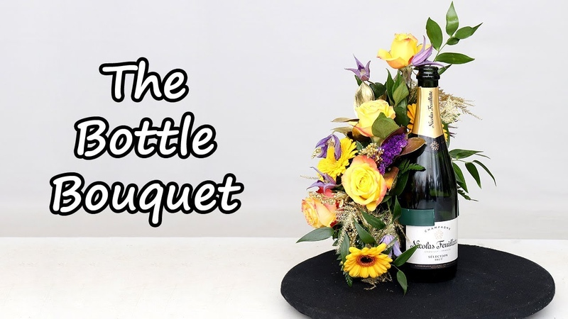 How To Add Flowers To A Bottle Of Champagne
