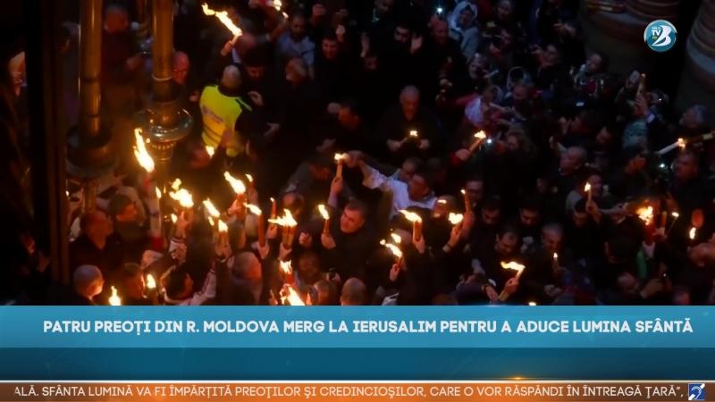 PATRU PREOȚI DIN R. MOLDOVA MERG LA IERUSALIM PENTRU A ADUCE LUMINA SFÂNTĂ