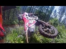 Epic Dirt Bike Single Track Ride through the lush forest in Oregon's Tillamook Forest then I CRASHED