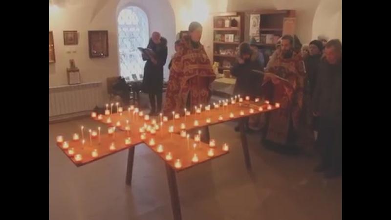 Покаянный молебен пред иконой Вифлеемских младенцев в храме Вмч Георгия Победоно