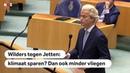 KLIMAAT Ga zelf ook minder vliegen, zegt Wilders tegen Jetten