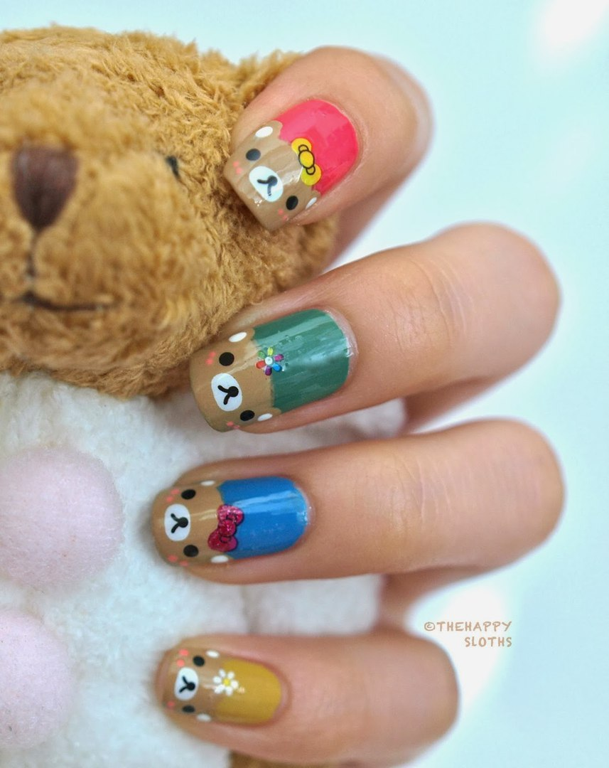 Дизайн ногтей с мордочками животных фото