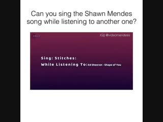 can you sing the shawn mendes song while listening to another one