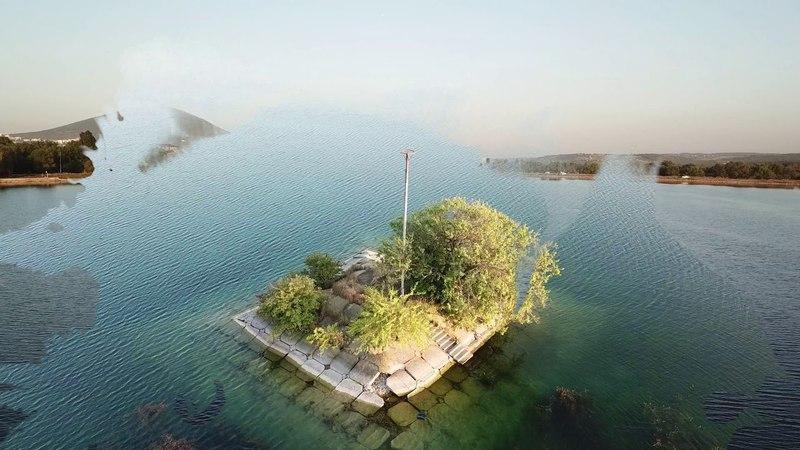 Новопятигорское озеро. Аэросъемка. DJI Mavic pro