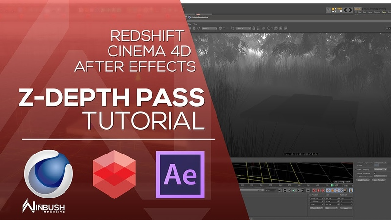 Redshift Cinema 4D with After Effects - Create Z Depth pass for DOF and Fog