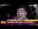 Alarmante estado de Maradona en su visita al país.