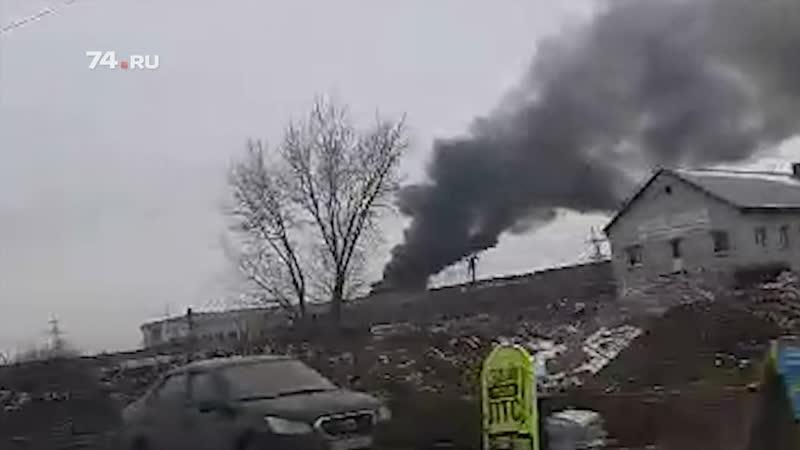 В Челябинске вспыхнула свалка
