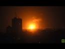 Palästina Israelische Luftangriffe über Gaza