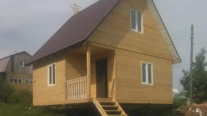 Новокузнецкий район, СНТ «Увалы», Строительство дома (6х6м)