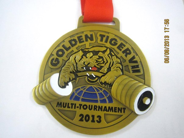Gold medal - Golden Tiger VII - Multi-Tournament 2013 │ Image Source: Golden Tiger