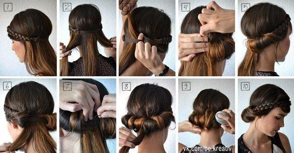 греческие прически на средние волосы своими руками видео