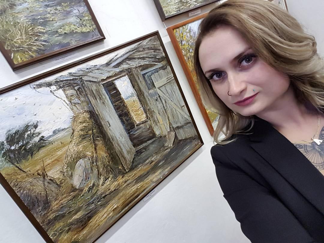 Открытие выставки Елены Андрус