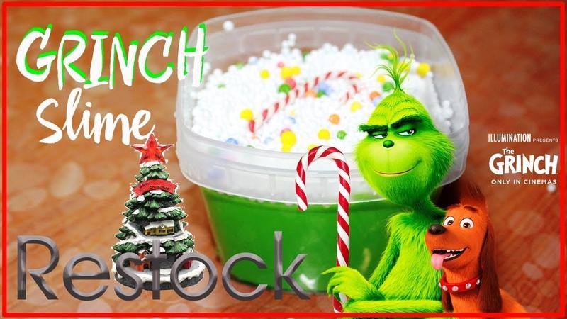 Гринч слайм. Ресток по мотивам мультфильма ГРИНЧ. Grinch slime Restock based on the cartoon GRINCH