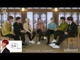 RUS SUB15.02.18 BTS Reveal Their Favorite Movie, Guilty Pleasure &amp More @ Billboard