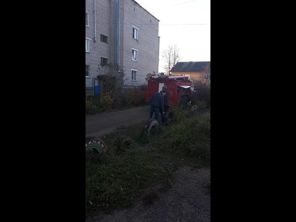 Пожар на улице Ленина, 100 в Нерехте (17.10.2018)