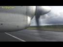 Nordavia (Pskovavia) Antonov 24 Archangelsk-Murmansk AMAZING! [AirClips full flight series]