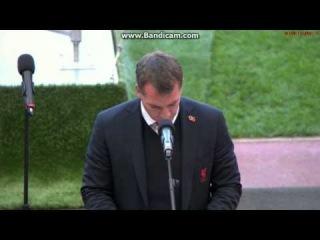 Speech of Brendan Rodgers on The Hillsborough Memorial Service