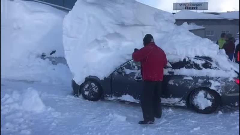 Little bit of snow