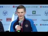 Men Small Medals Ceremony - ISU WC2018 Milan Italy