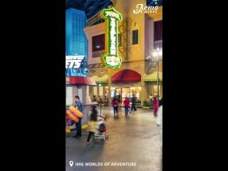 Крупнейший крытый парк развлечений IMG Worlds of Adventure