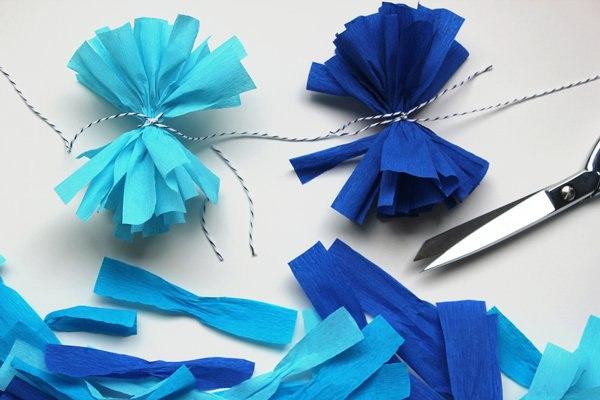 Украшения новогодние из гофрированной бумаги