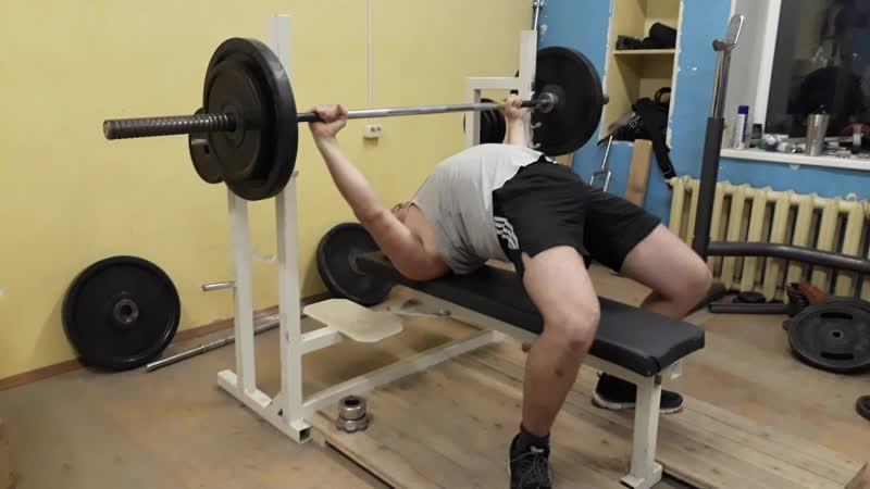 Жим 80 кг на 12 раз (второй подход)