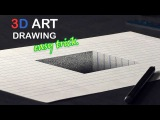 Easy Drawing of a HOLE/ Pencil Trick Art Tutorial on line paper