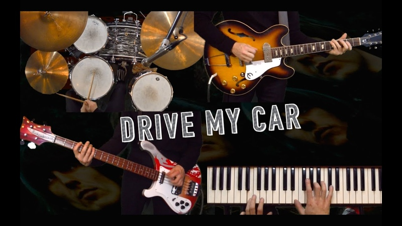 Drive My Car - Guitar, Bass, Drums and Piano Cover - Instrumental