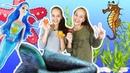 Бантики косички • СОНЯ и ПОЛИНА загадывают дом для русалочки.