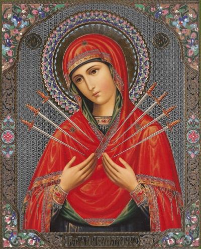 26 августа - Икона Божией Матери «Умягчение злых сердец» (Семистрельная)