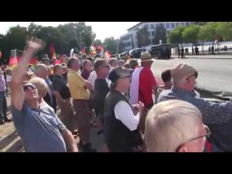 DEMO von AfD und PEGIDA. Dresden empfängt Merkel. 16.08.2018