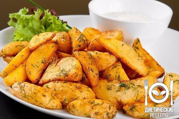 Картофель фри запеченный в