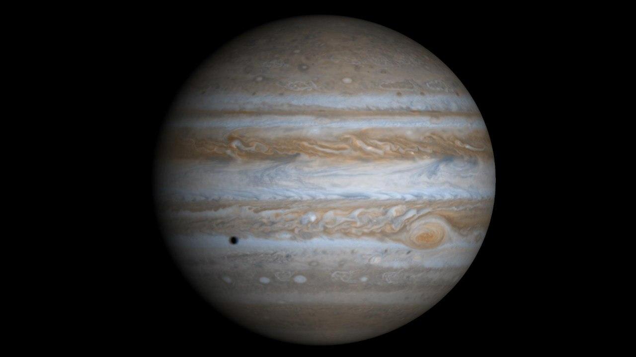 Юпитер, запечатлённый космическим аппаратом «Кассини-Гюйгенс»