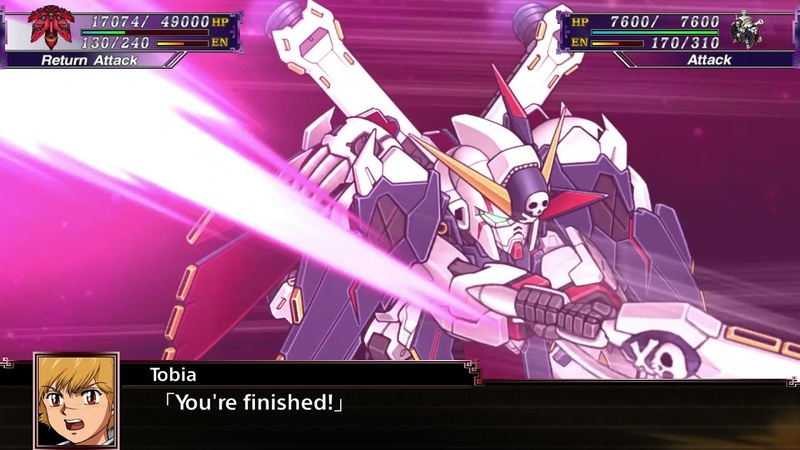 Super Robot Wars X(ENG): Crossbone Gundam X-1 Full Cloth All Attacks