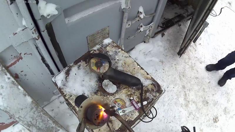 Как почистить горелку на автономке или перво видео с экшенкамеры