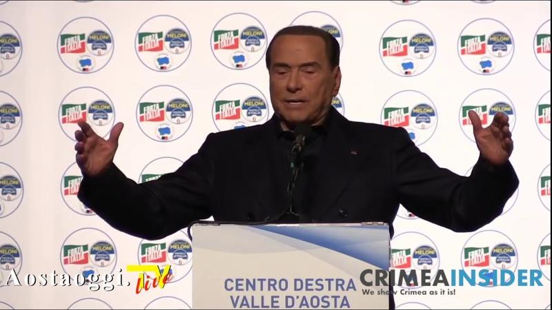 Silvio Berlusconi chiusura campagna elettorale Valle d'Aosta