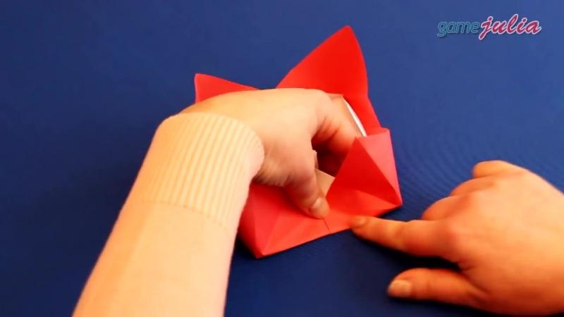 Оригами из бумаги Вазочка Корзинка своими руками