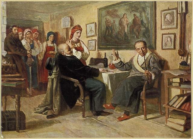 Торг. Николай Неврев. 1866