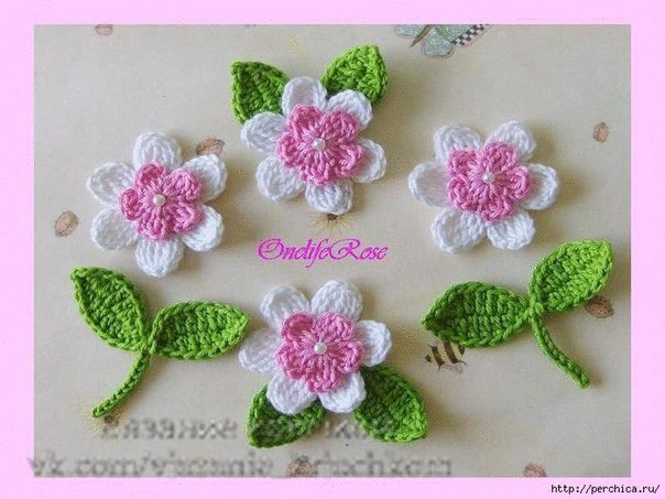 Цветы крючком (8 фото) - картинка