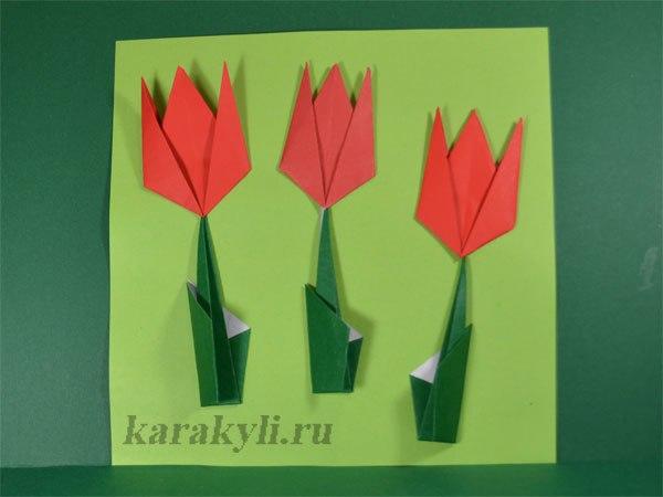 Тюльпан – плоская модель