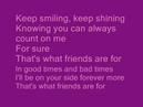 That's What Friends Are For by Dionne Warwick Stevie Wonder Gladys Knight and Elton
