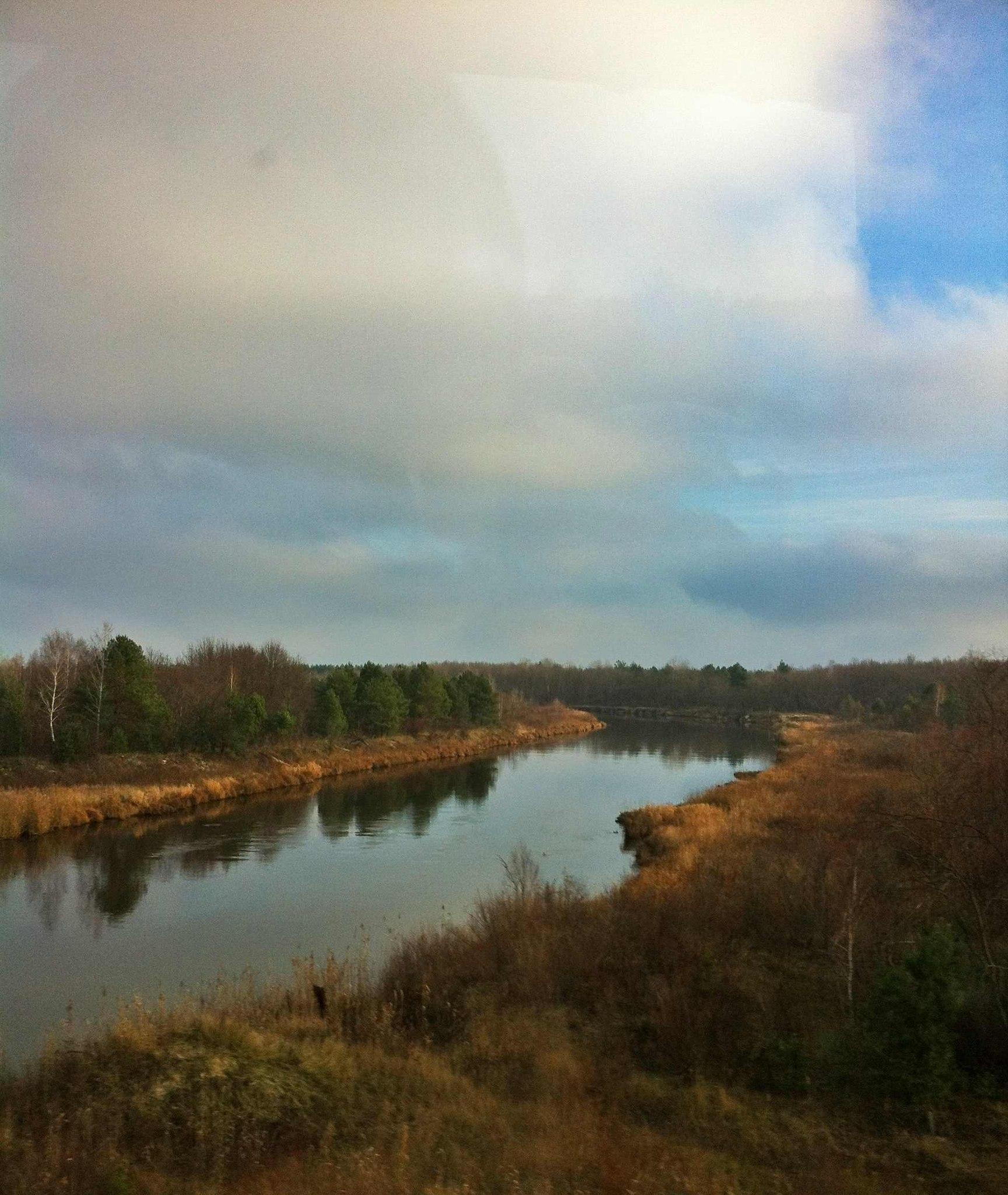 Река Уж недалеко от Чернобыля