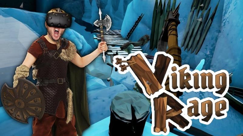 VIKING AXE THROWING IN VIRTUAL REALITY! | Viking Rage (HTC Vive VR)