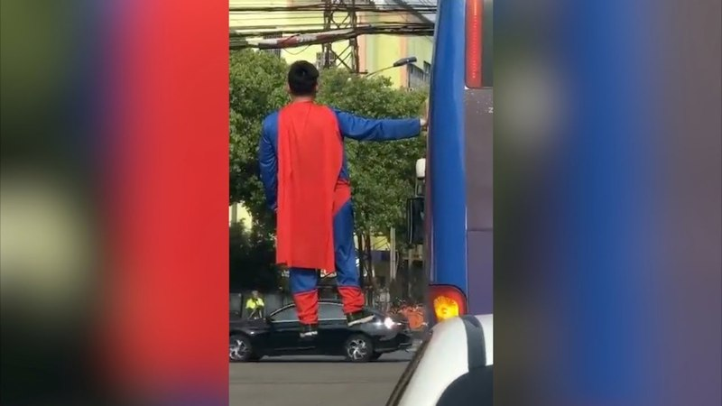 Superman takes a spin in China's Suzhou City