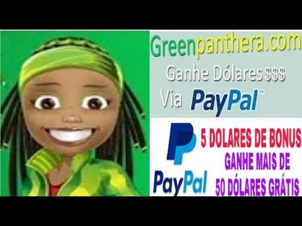 【GREEN PANTERA PESQUISAS】☛$5 de Bônus no cadastro | Veja como ganhar até $50 no paypal