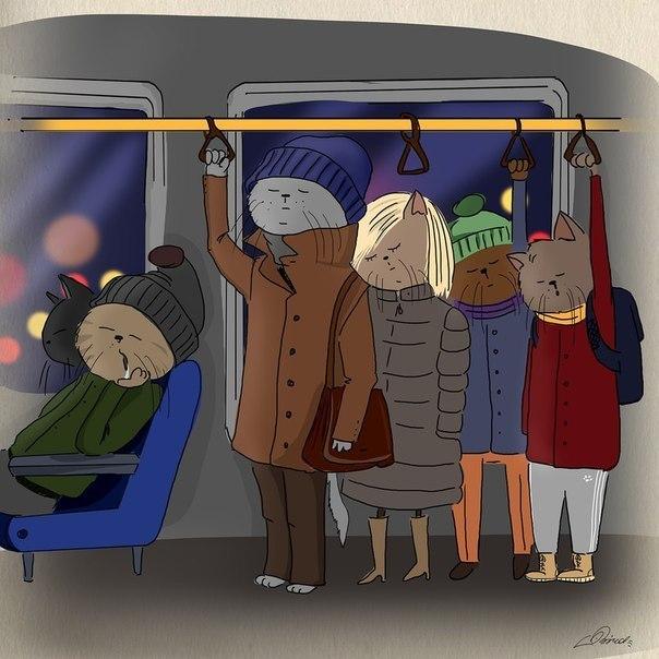 Спящая девчонка в метро 15 фотография