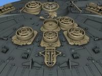 3D Printable Millennium Falcon Interior Hyperdrive Engine Kit 2