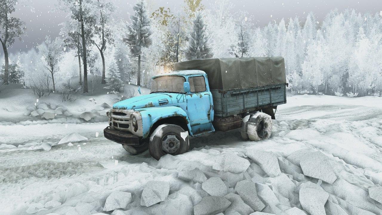 Карта Зимний сезон + Падающий снег SPIN TIRES RTcC4fYB070