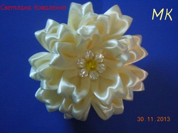 Цветы из атласной ленты своими руками ширина ленты 2.5 см