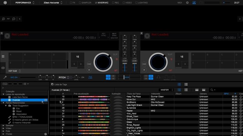 Rekordbox DJ 5.4 Microfone